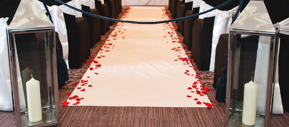 Wedding Decorations for the Aisle by Elegant Chairs
