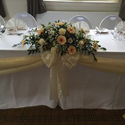 Healds Hall Hotel Wedding Decorations